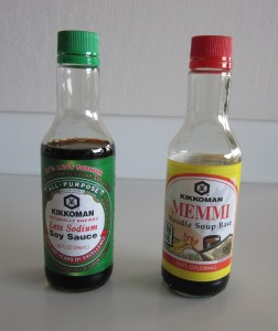 Low sodium soy sause and Memmi