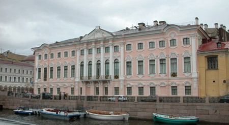 The Stroganov Palace on Nevsky Avenue in St Petersburg, Russia