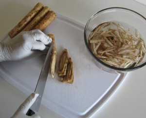 preparing gobo burdock root