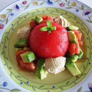 Avocado Stuffed Tomato Fae's Twist & Tango