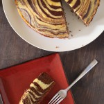 "November 30, 2013""I really dig finding recipes when I least expect it, specially recipes from fellow bloggers... This cake [Fae's Zebra Cake] requires patience and a bit of precision… I didn't have a cake pan, which complicated things a bit for me, so I used a cast iron dutch oven, lined with parchment paper to prevent any sticking. Anyways, this is a fun looking cake, perfect for special occasions, like kid's birthdays.""~~That Other Cooking Blog"