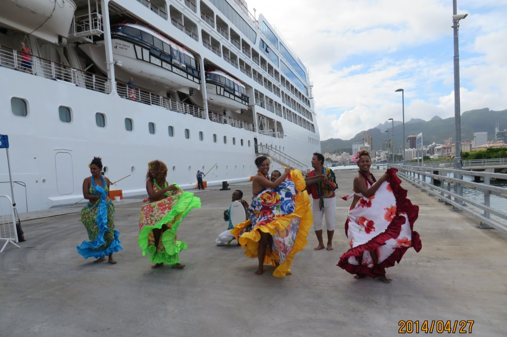 Welcoming performance troupe of Mauritius