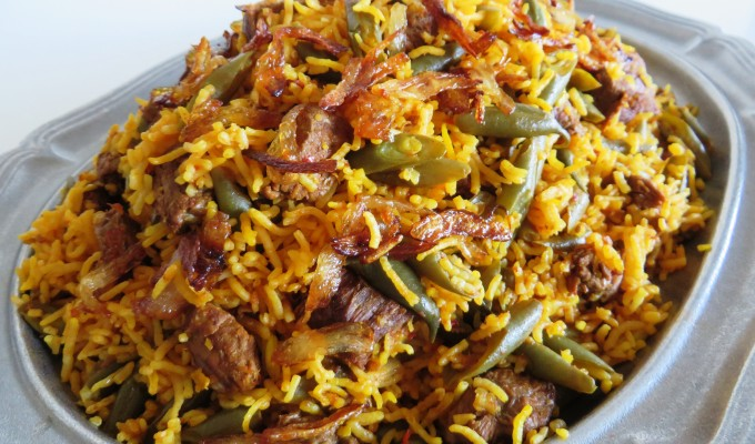 Green Bean Rice  •  Lubia Polo  •  لوبیا پلو