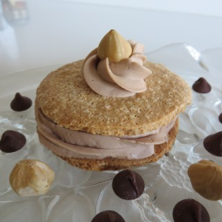 Hazelnut  Dacquoise  with Swiss Meringue Mocha Buttercream