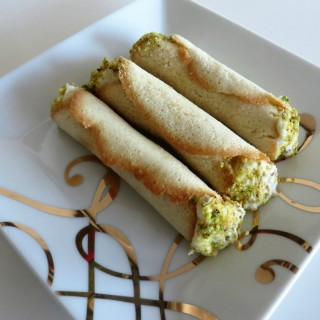 Hazelnut Cannoli filled with Ricotta, Honey and Pistachios