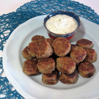Turkey Meatballs with Tzatziki Sauce