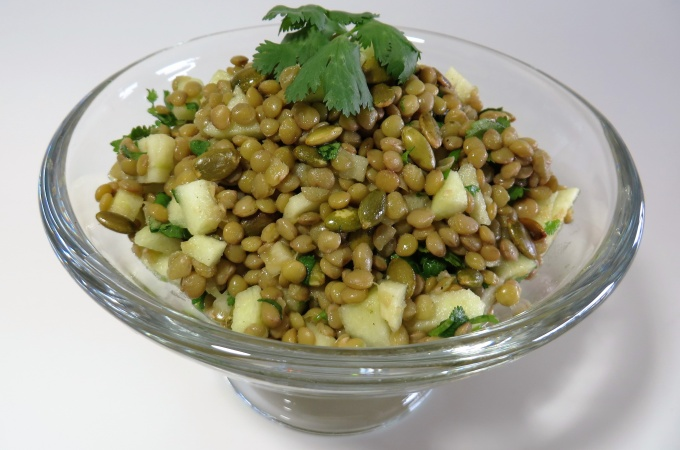 Lentil Salad with Apple, Pumpkin Seeds & Cilantro | Fae's Twist & Tango (fae-magazine.com)