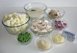 Ingredients for Cauliflower Gratin