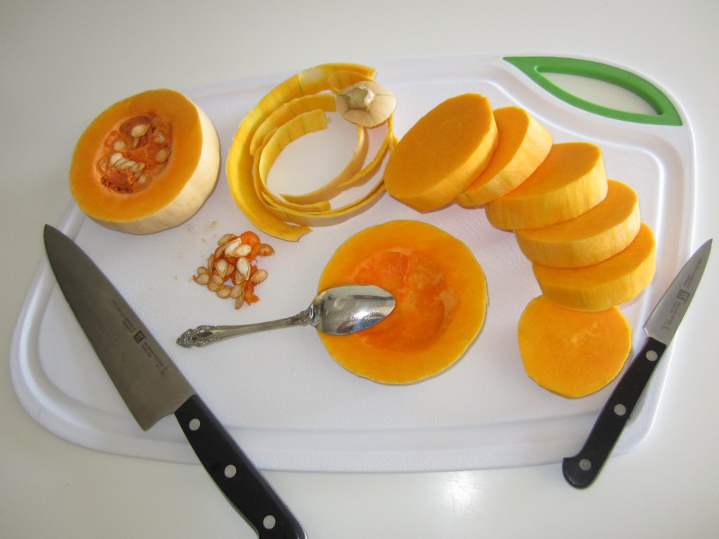 Peeled Butter Squash