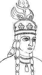 Queen Pourandokht's imaginary portrait