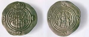 Queen Pourandokht's coins