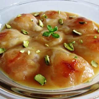Braised Pears in a Caramel Sauce   Fae's Twist & Tango