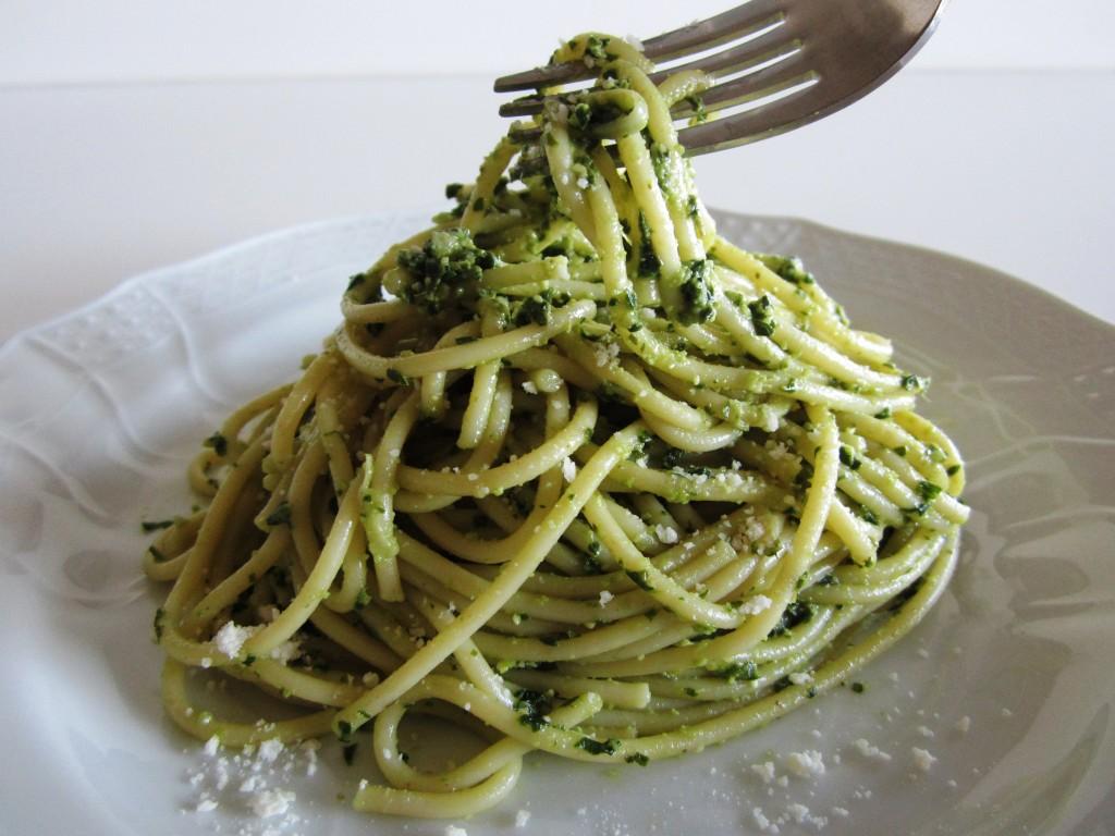 Pesto Pistachio Pasta Fae's Twist & Tango