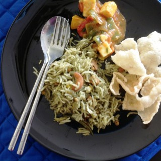 Guest Post:  Radhika's  Green Corn Pulao/Rice
