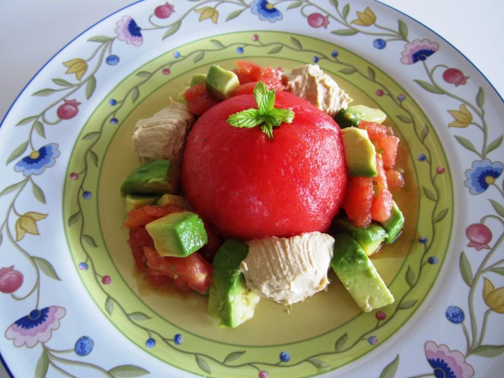 Avocado Stuffed Tomato Fae's Twist & Tango