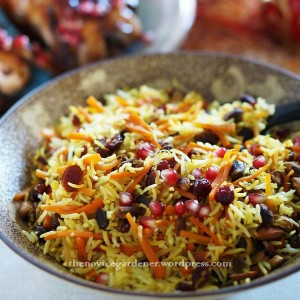 "November 3, 2013Pomegranate Carrot Rice""I followed Fae's recipe for Carrot Rice to make this. The only thing I did differently was to add toasted pistachios and pomegranate seeds. I also used pomegranate juice-infused dried cranberries.""~~ The Novice Gardner"