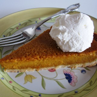 Pumpkin Tart  with  Shortbread Shell