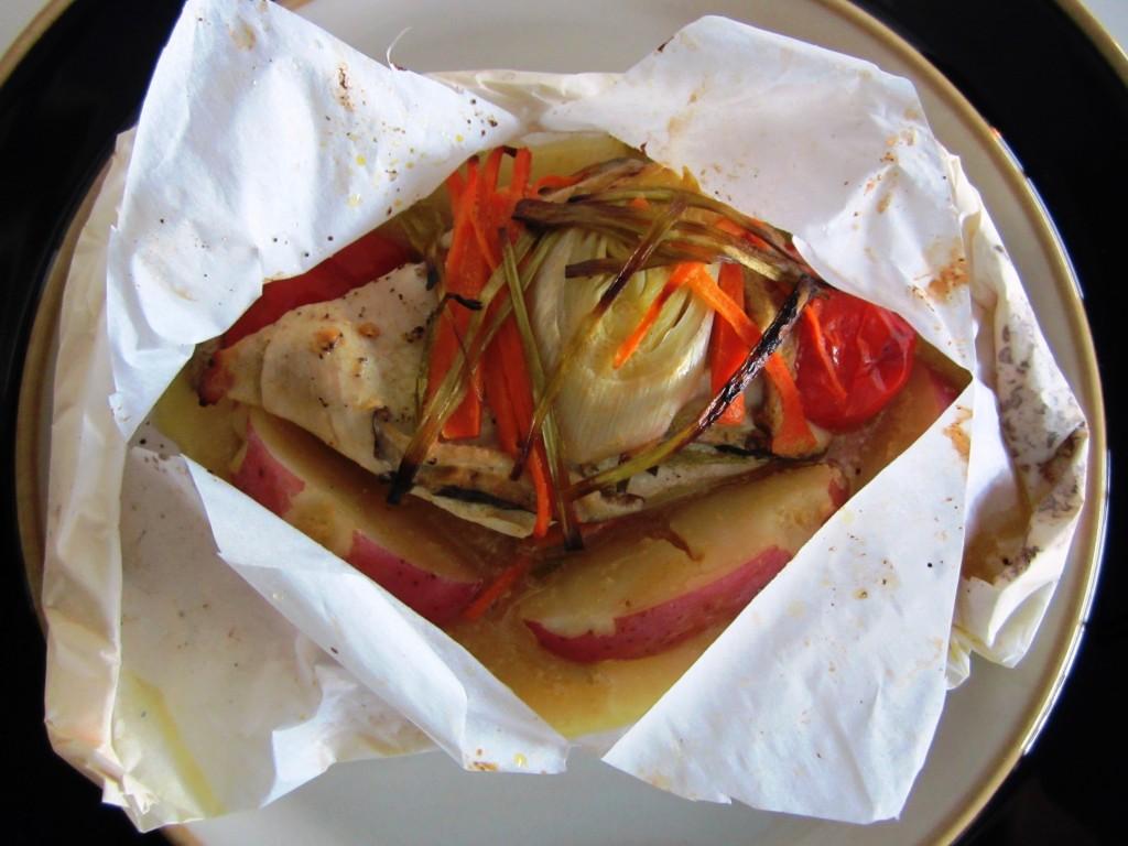 Chicken en Papillote Fae's Twist & Tango