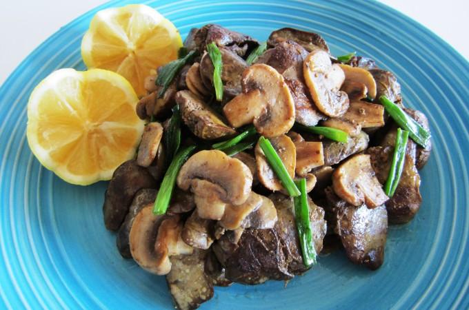 Chicken Liver Sautée with Mushrooms Fae's Twist & Tango