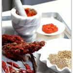lamb chops- making Thai red curry paste
