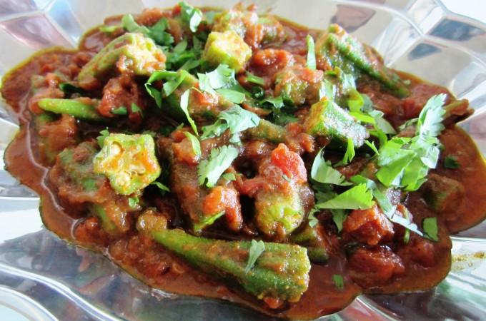Curry Okra -| Fae's Twist & Tango