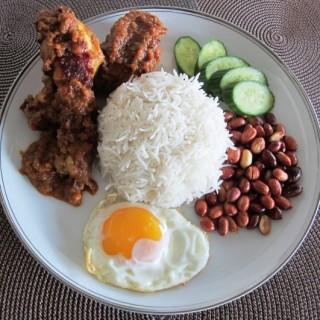 Nasi Lemak   -&-  Chicken Rendang