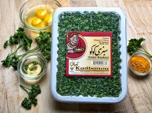 Kadbanou brand frozen Sabzi Ash Click → here to see video of how the herbs are prepared/packaged.