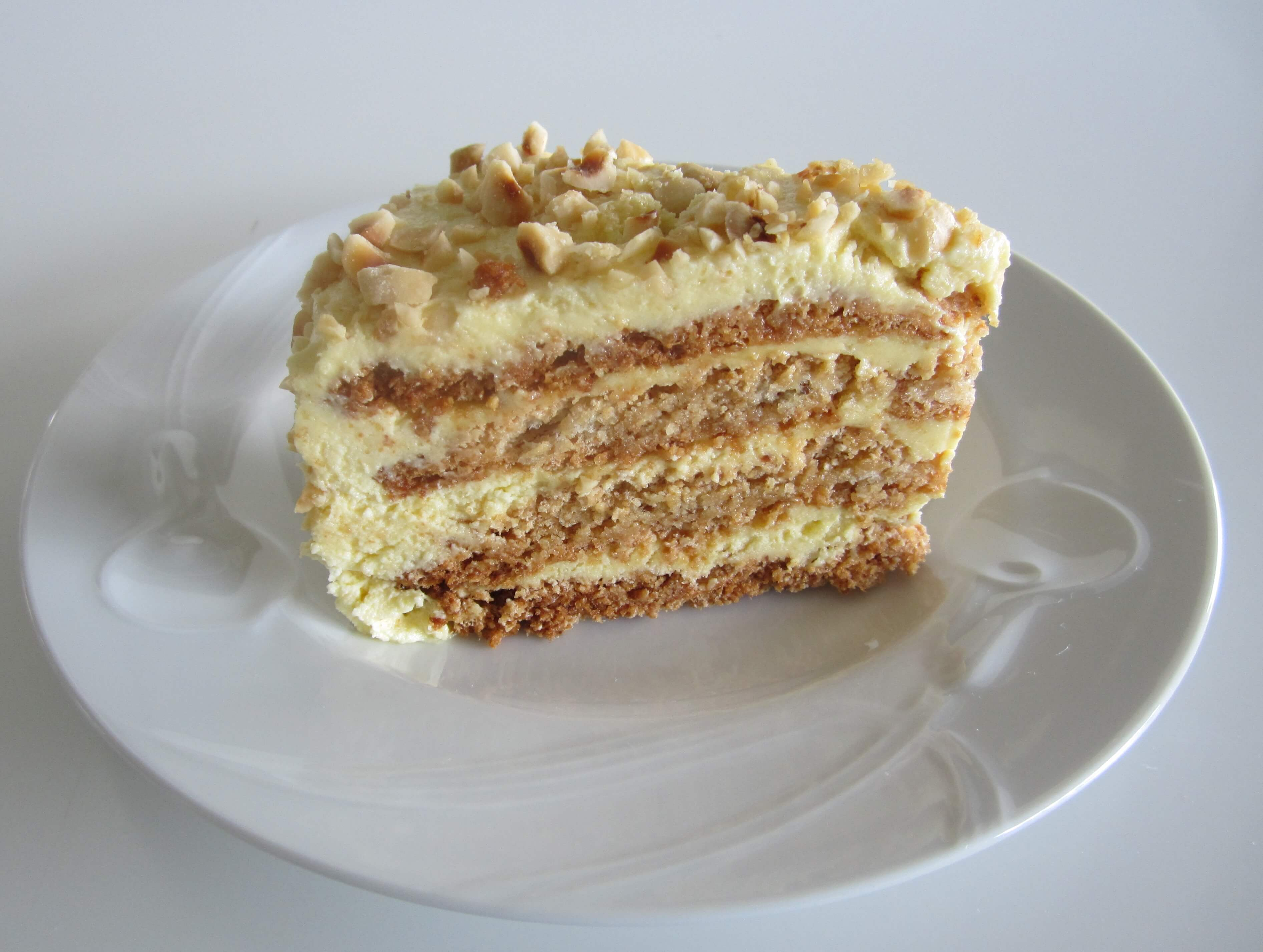 Hazelnut Cream Layer Cake