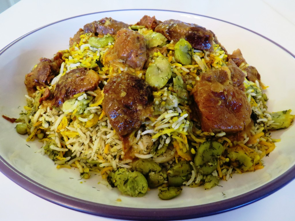 Fava Bean Rice - Baghali Polo باقالی پلو Fae's Twist & Tango