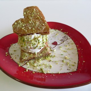 Baghlava / Baklava Ice Cream  •   بستنی باقلوا