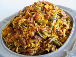 Green Bean Rice|lubia Polo لوبیا پلو | Fae's Twist & Tango