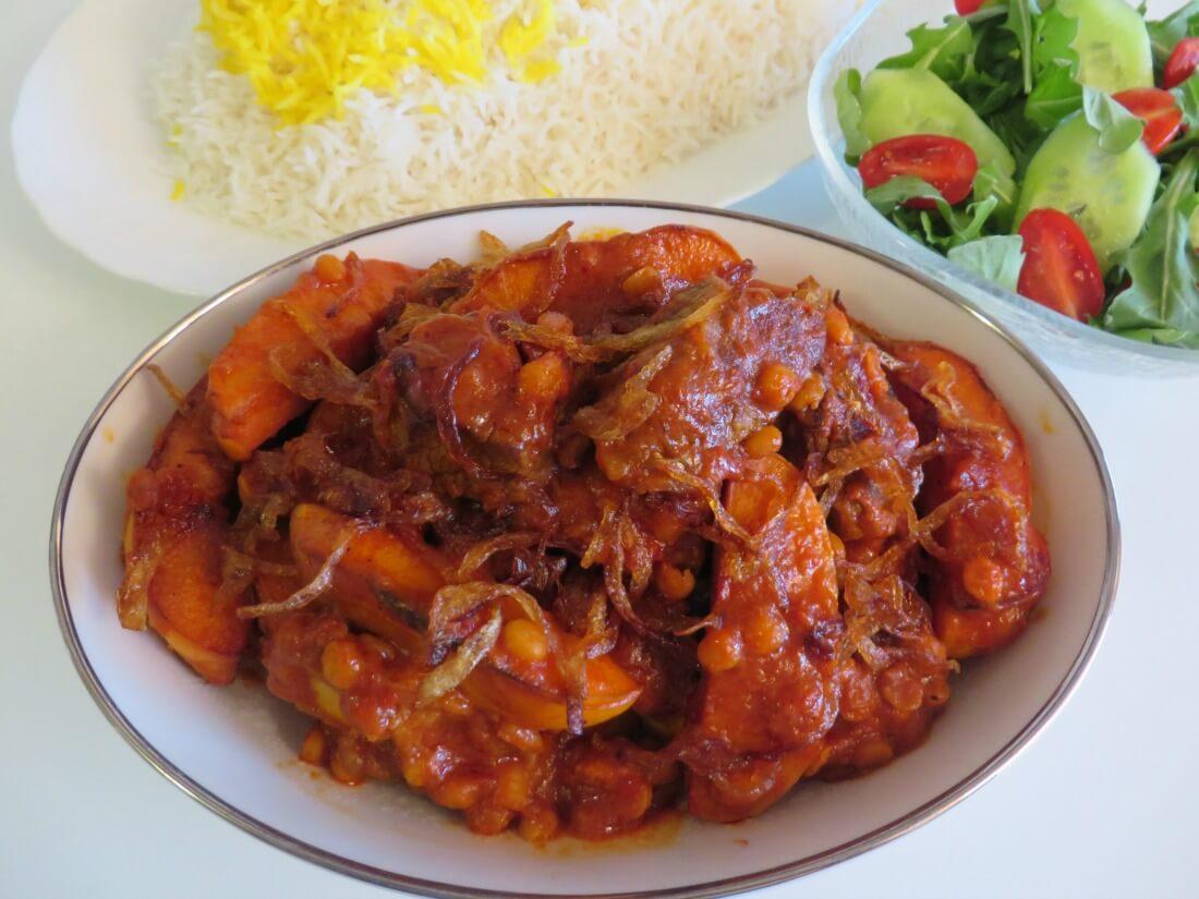 Khoresh'e Beh • خورش به • Quince Stew (Savory) | Fae's Twist & Tango